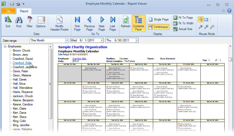 Employee scheduling software snap schedule product tour for Multiple employee schedule template