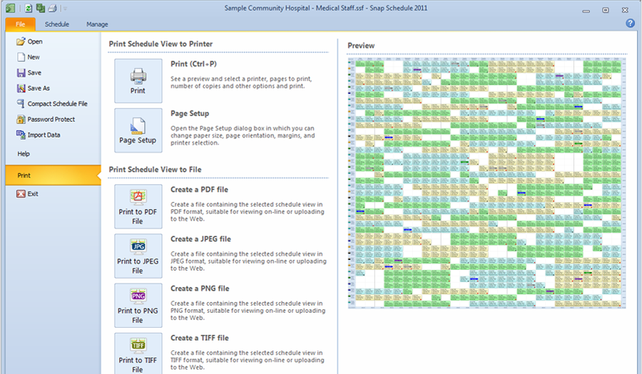 Publish work schedules in Snap Schedule Employee Scheduling Software