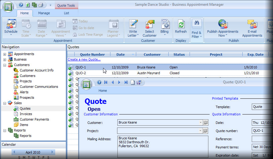 Appointment Scheduling Software - quotes