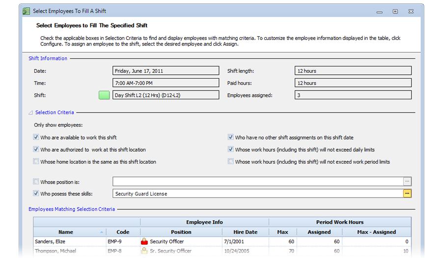 Avoid overtime costs in Snap Schedule Employee Scheduling Software